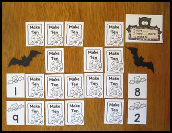 Addition Fact Strategy Make 10 Bats