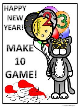 make ten happy new year card
