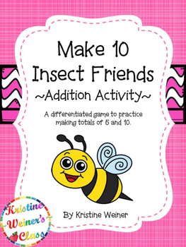 Make 10: Insect Friends {An Addition Game}