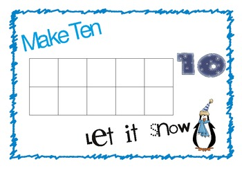 Make 10 Let it Snow: A Winter Themed Common Core K Math Center Game