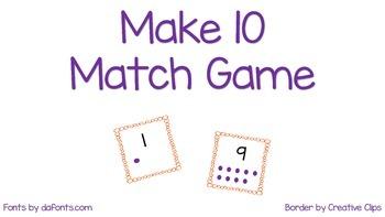 Make 10 Match with ten frame