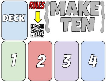 Make 10 Math Card Game