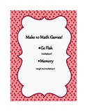 Make 10 Math Games!