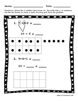 Make 10 Math Worksheets