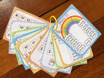 Make 10 Rainbow,Number Bonds 2-9,Same Numbers Addition Posters/Cards