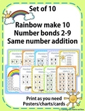 Make 10 Rainbow,Number Bonds 2-9,Same Numbers Addition Pos