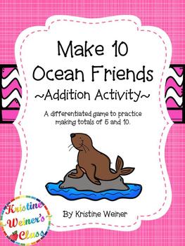 Make 10: Ocean Friends {An Addition Game}