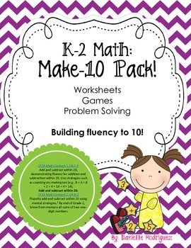 Make-10 Pack: Building Fluency to 10!