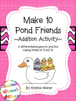 Make 10: Pond Friends {An Addition Game}