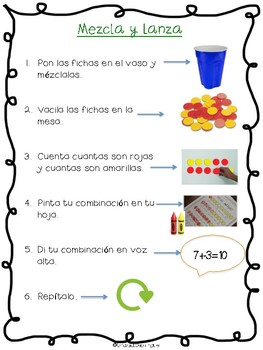 Make 10 Spanish Packet- Hacer 10 paquete