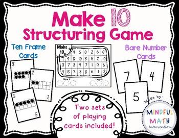Make 10 Structuring Game
