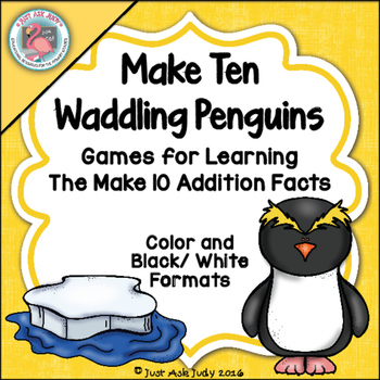 Addition Fact Strategy Make 10 Penguins