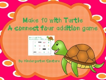 Make 10 With Turtle - Addition - 4 In A Row