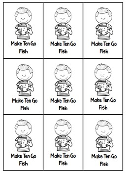 Make 10 and Make 20 Go Fish
