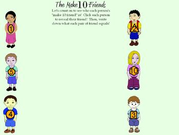 Make 10 friends: fun way of learning number pairs