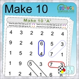 Make 10 adding puzzles (find adjacent numbers that add to