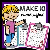 Make 10 number find addition activity