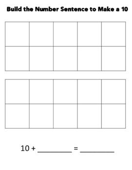 Make 10 to Add Center Activity