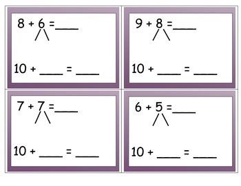 Make 10 to Add Center (Common Core 2.OA.B.2)
