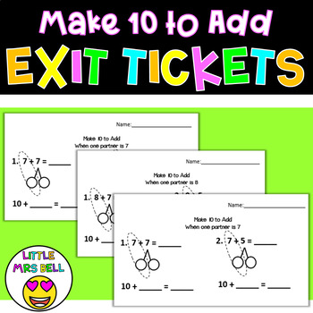 Make 10 to Add Exit Tickets