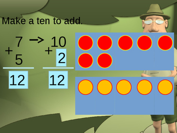 Make 10 to Add Powerpoint (Using Ten Frames)