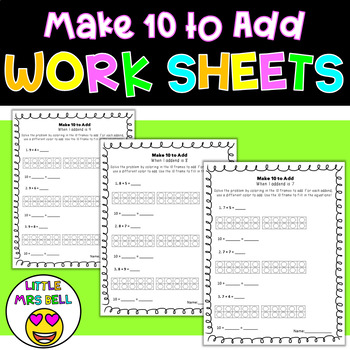 Make 10 to Add Worksheets