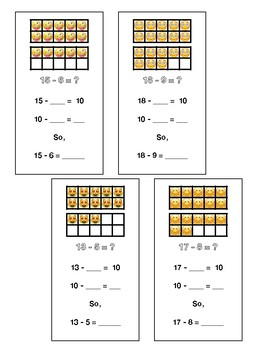 Make 10 to Subtract - With Emoji's!