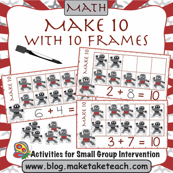 Make 10 with 10 Frames - Ninja Themed Activity