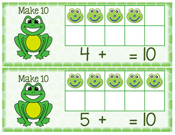 Make 10 with 10 Frames - Spring Themed Activities