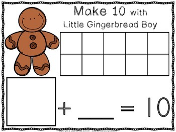 Make 10 with Little Gingerbread Boy!