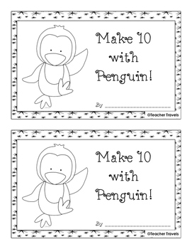 Make 10 with Penguins Addition Booklet