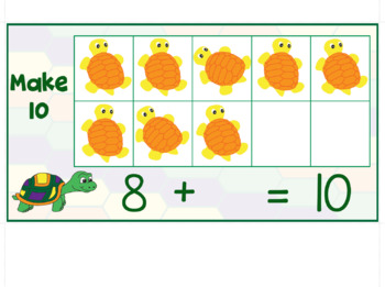Make 10 with Ten Frames - Turtle Themed Activities