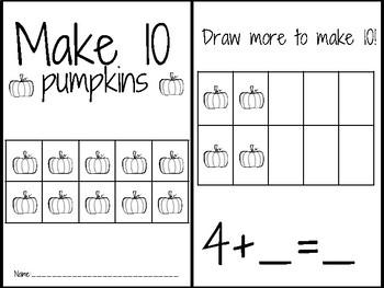 Make 10 with pumpkins