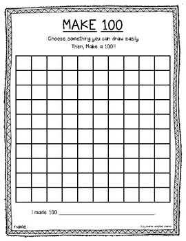 Make 100: A Math Activity for the 100th Day of School