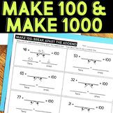 Make 100 and Make 1000 Activities and Printables