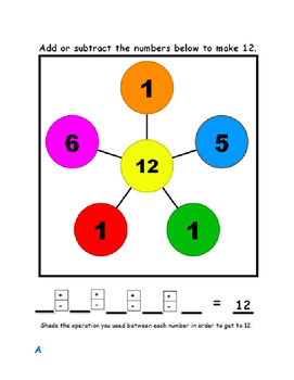 Make 12 Addition and Subtraction