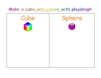 Make 3D shapes with Playdough!