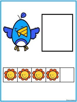 Make 5 Spring Booklet And Number Match
