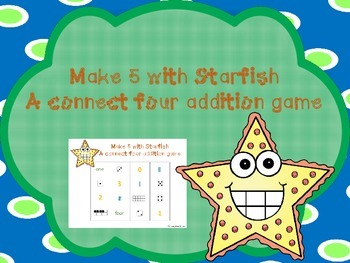 Make 5 With Starfish - addition game