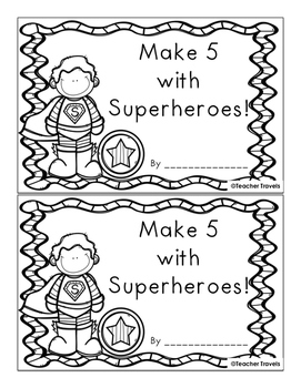 Make 5 with Superheroes Addition Booklet