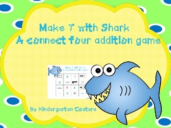 Make 7 With Shark - Addition Game- 4 In A Row