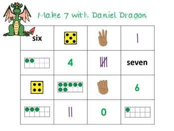 Make 7 with Daniel Dragon - A 4 In A Row Addition Game