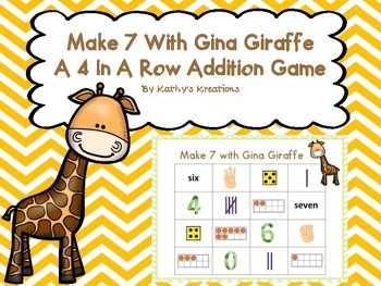 Make 7 with Gina Giraffe (A Four In A Row Addition Game)