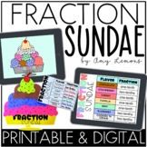 Digital and Printable Math Activity:  Fraction Sundae