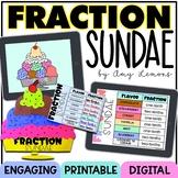 Digital and Printable Math Activity:  Fraction Sundae