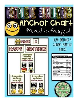 Make A Happy Sentence Anchor Chart