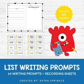 Make A List Writing Prompts