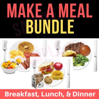 Make A Meal Activity & Flash Cards BUNDLE | Breakfast, Lunch, Dinner | VIPKid