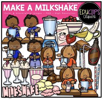 Make A Milkshake Clip Art Bundle {Educlips Clipart}