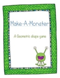 Make-A-Monster Geometric Shapes Activity